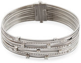 Marco Bicego Goa Handmade 18k White Gold Diamond Multi-Row Bracelet