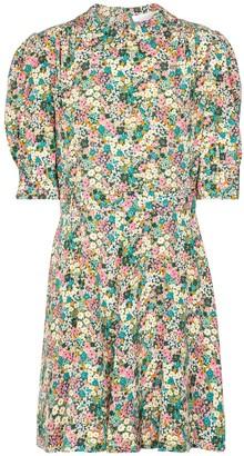 See by Chloe Floral silk shirt minidress