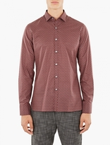 Lanvin Red Patterned Cotton Shirt