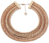 """Guess Gold-Tone Multi-Chain Collar Necklace, 16"""" + 2"""" extender"""