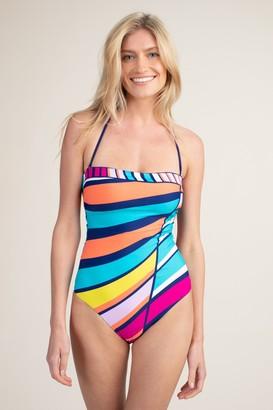 Trina Turk Catch A Wave Bandeau One Piece Swim