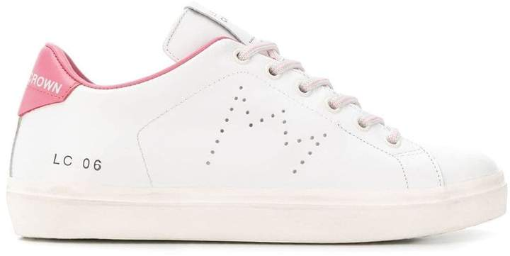 Leather Crown lace-up sneakers