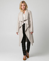 Le Château Cashmere-Like Open Collar Wrap Coat
