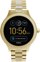 Fossil Q Women's Venture Gen 3 Gold-Tone Stainless Steel Bracelet Touchscreen Smart Watch 42mm