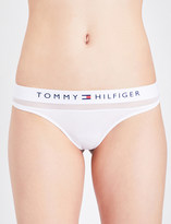 Tommy Hilfiger Mesh and stretch-cotton thong