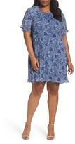 MICHAEL Michael Kors Plus Size Women's Kinley Pleat Shift Dress