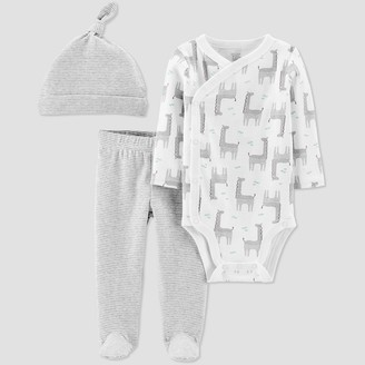 Off-White Just One You Made By Carter's Baby 3pc Giraffe Top and Bottom Set - Just One You® made by carter's