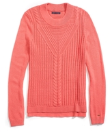 Tommy Hilfiger Final Sale-Crew Neck Mix Stitch Sweater