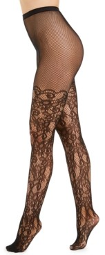 INC International Concepts I.n.c. Women's Lace Fishnet-Effect Tights, Created for Macy's