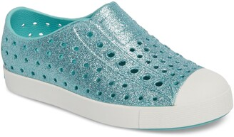 Native Jefferson Bling Glitter Slip-On Vegan Sneaker
