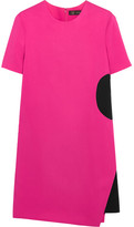 Versace Two-tone Stretch-crepe Mini Dress - Fuchsia