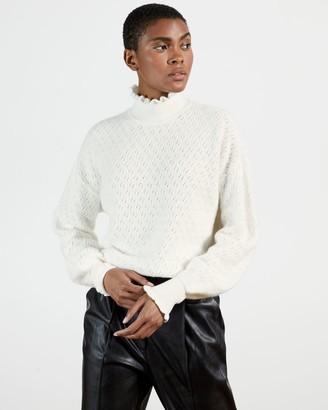 Ted Baker Pointelle Mid Gauge Sweater