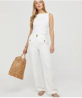Monsoon Zadie Slash Neck Sleeveless Vest - White