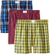Tommy Hilfiger Men's 3-Pack Plaid Woven Boxer
