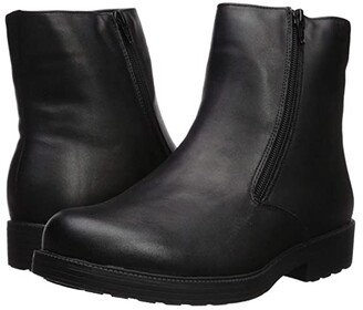 Propet Troy Double Zip (Black) Men's Shoes