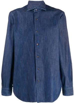 Barba Button-Up Denim Shirt