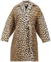 Balenciaga Belted Leopard-print Canvas Coat - Womens - Leopard