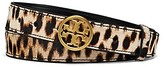 Tory Burch 1'' Printed Calf Hair Logo Belt