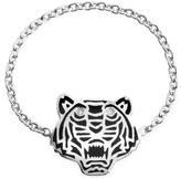 Kenzo Black Lacquer Sterling Silver Mini Tiger Ring
