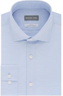 Michael Kors Men's Slim Fit Performance Stretch Dress Shirt, Online Exclusive