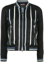 GUILD PRIME striped bomber jacket
