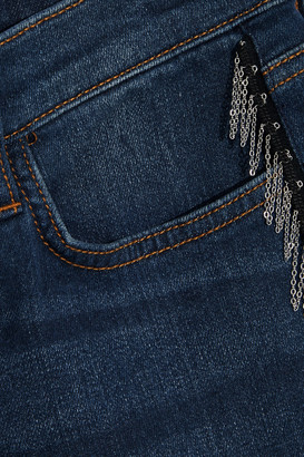 Current/Elliott The Chained Stiletto Cropped Mid-rise Skinny Jeans
