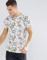Bellfield T-Shirt With Hawaiian Print