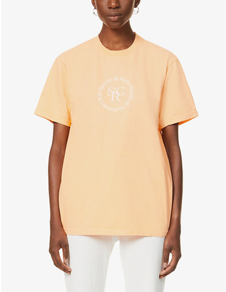 Sporty & Rich Branded-print cotton-jersey T-shirt