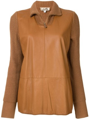 Hermes Pre-Owned panelled knitted top