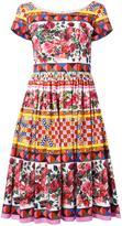 Dolce & Gabbana Mambo print flared dress - women - Cotton - 38