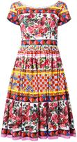 Dolce & Gabbana Mambo print flared dress - women - Cotton - 42