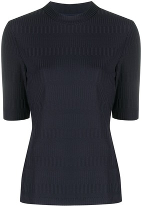 HUGO BOSS Rib-Detail Knitted Top