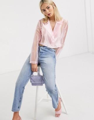 Stefania Viadani Stefania Vaidani kaia organza jacket top in pink