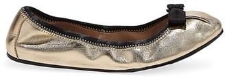 Salvatore Ferragamo My Joy Metallic Leather Ballet Flats