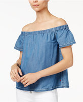True Religion Off-The-Shoulder Denim Top
