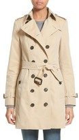 Burberry Women's Sandringham Mid Slim Trench Coat