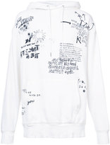 R 13 printed typography hoodie - men - Cotton - S