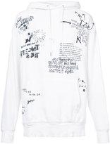 R 13 printed typography hoodie