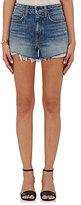Denim x Alexander Wang Women's Distressed High-Waist Shorts-LIGHT BLUE