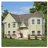 Little Cottage Company Sara's 10x18 W Victorian Mansion DIY Kit Playhouse