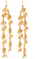 Kenneth Jay Lane Gold-Plated Faux Pearl Earrings