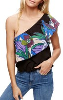 Free People Women's Annka Ruffle One-Shoulder Tank