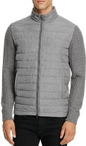 Zachary Prell Quilted Merino Wool Sweater Jacket
