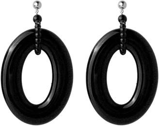 Pietrasanta Black Statement Hoop Earrings
