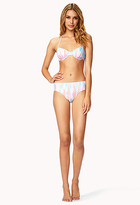 Forever 21 Watercolor Halter Bikini Top