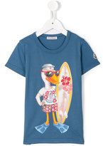 Moncler duck print T-shirt - kids - Cotton - 2 yrs