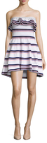 MSGM Cotton Tiered Bandeau A Line Dress