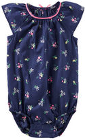 Osh Kosh Floral Print Poplin Bodysuit