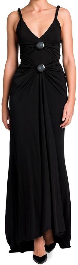 Giorgio Armani Gathered Jersey Gown