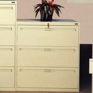 """Tennsco Corp. 3-Drawer Lateral Filing cabinet Pull Type: Long Pull, Size: 39.38"""" H x 30"""" W x 17.94"""" D, Finish: Black"""
